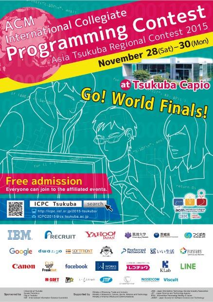 Asia Tsukuba Regional Contest 2015 | ACM-ICPC 2015 Tsukuba